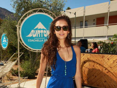 Nina Dobrev At Coachella Pool Party