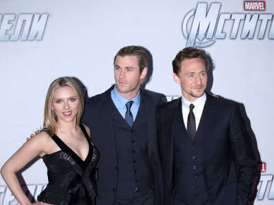 Scarlett Johansson Attends The Avengers In Moscows Premiere