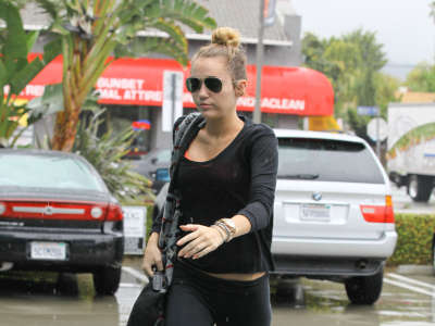 Miley Cyrus After The Gym In Hollywood