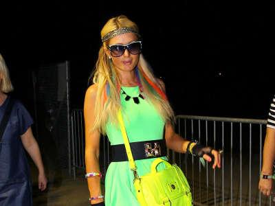 Paris Hilton Coachella Arts And Music Festival