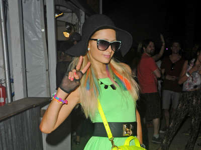 Paris Hilton Coachella Arts And Music Festival
