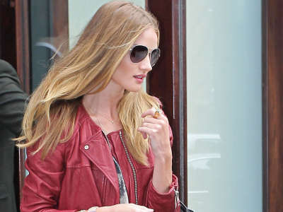 Rosie Huntington Whiteley In NYC