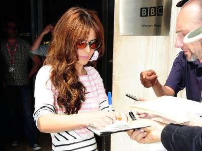 Cheryl Cole On BBC Radio In London