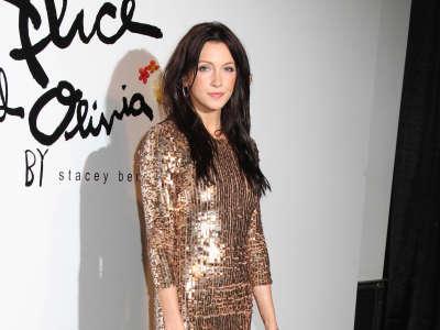 Katie Cassidy At Mercedes Benz Fashion Week