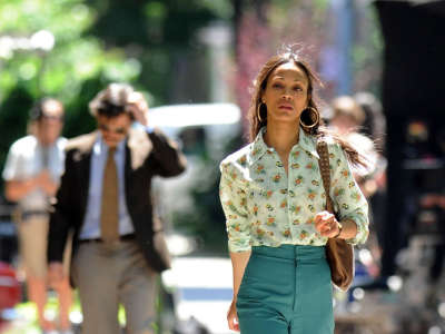 Zoe Saldana In NYC
