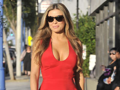 Carmen Electra Arriving At Hamburger Marys In West Hollywood