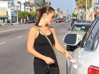 Minka Kelly Out And About Candids In Hollywood
