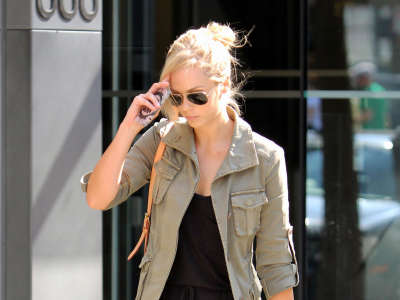 Laura Vandervoort Out And About Candids In Vancouver
