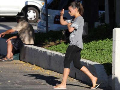 Mila Kunis Out And About Gym Candids In Studio City