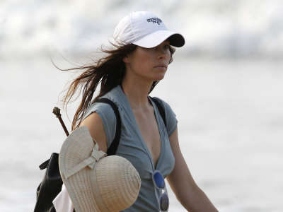 Jessica Biel Bikini Beach Vacation Candids In Puerto Rico