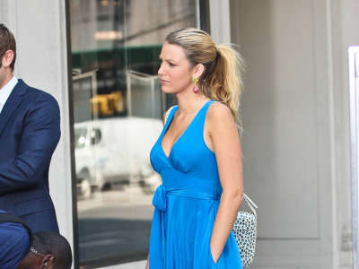 Blake Lively Gossip Girl Set Candids In New York
