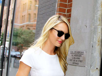 Candice Swanepoel Out And About Candids In New York