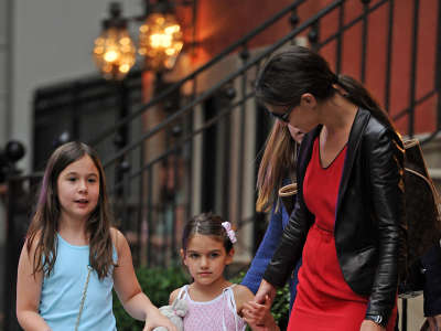 Katie Holmes Out And About Candids In New York