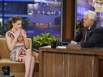Kristen Stewart The Tonight Show With Jay Leno Appearance In Burbank