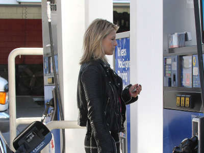 Ali Larter At Gas Station