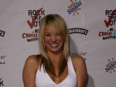 Kaley Cuoco Rock The Vote National Bus Tour Concert In Hollywood