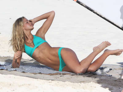 Erin Heatherton Victorias Secret Bikini Photo Shoot Candids In St. Barts