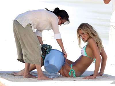 Erin Heatherton Victorias Secret Bikini Photo Shoot Candids In St. Barts