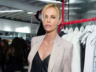 Charlize Theron Nasty Gal Melrose Store Launch In Los Angeles