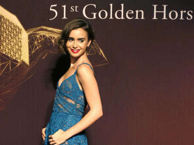 Lily Collins 51st Annual Golden Horse Awards In Taiwan