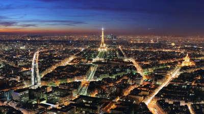 Aerieal Paris At Night