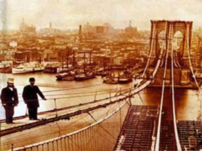 Old Photo of Brooklyn Bridge