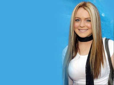Lindsay Lohan White Busty