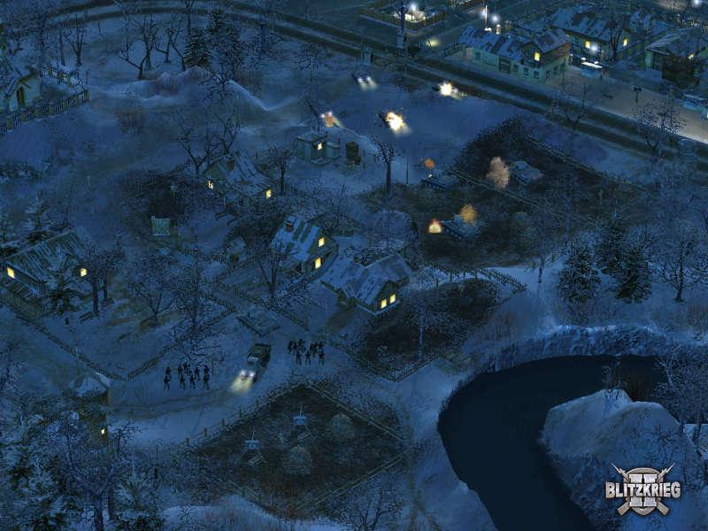 Night battle in blietzkrieg